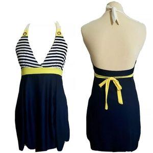 MI Fangi Nautical Swimdress *Read Full Post XL